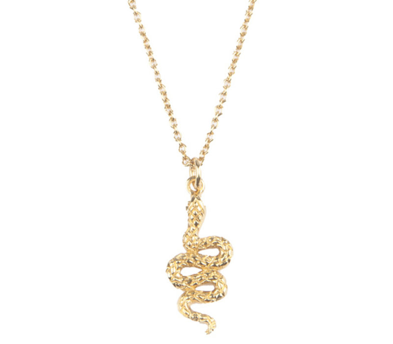 Necklace Snake plated