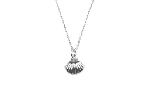 All the Luck in the World Necklace Sea Shell silver