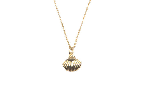 All the Luck in the World Necklace Sea Shell gold