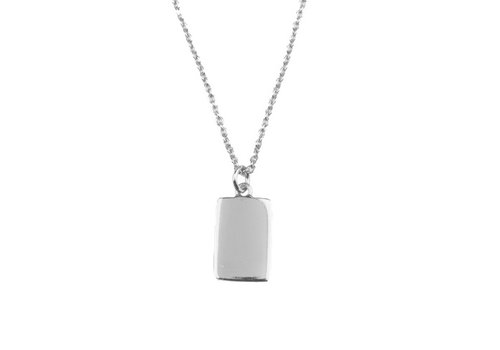 All the Luck in the World Souvenir Silverplated Ketting Rechthoek