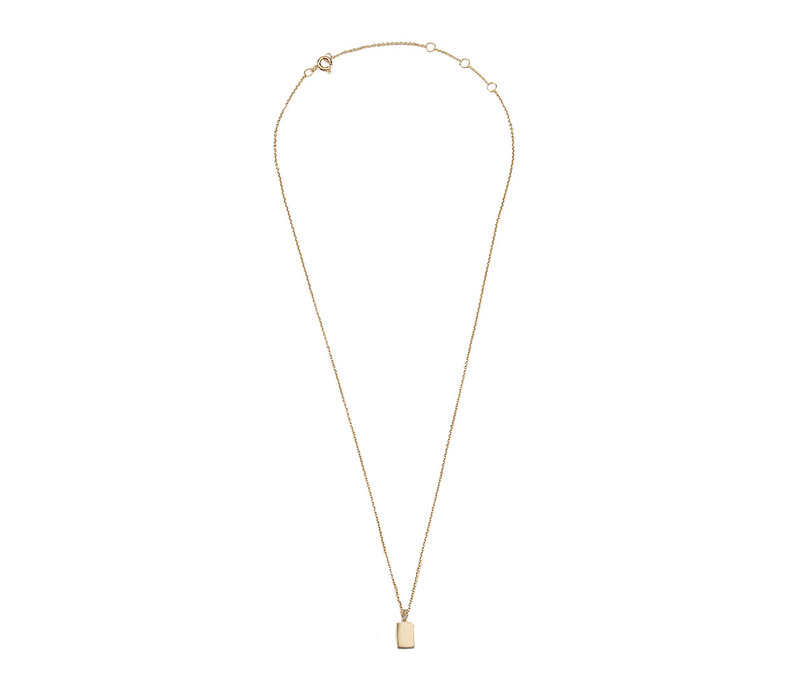 Souvenir Goldplated Necklace Rectangle
