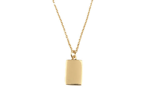 All the Luck in the World Souvenir Goldplated Necklace Rectangle