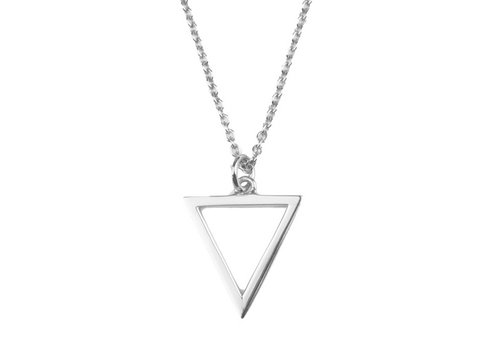 All the Luck in the World Souvenir Silverplated Necklace Open Triangle