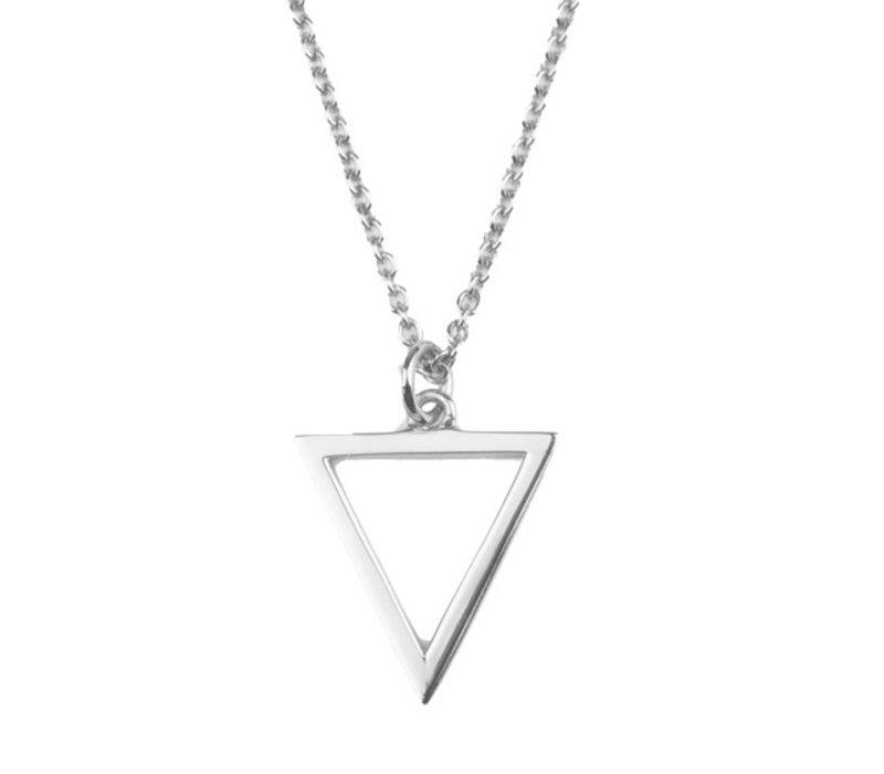 Souvenir Silverplated Ketting Open Driehoek