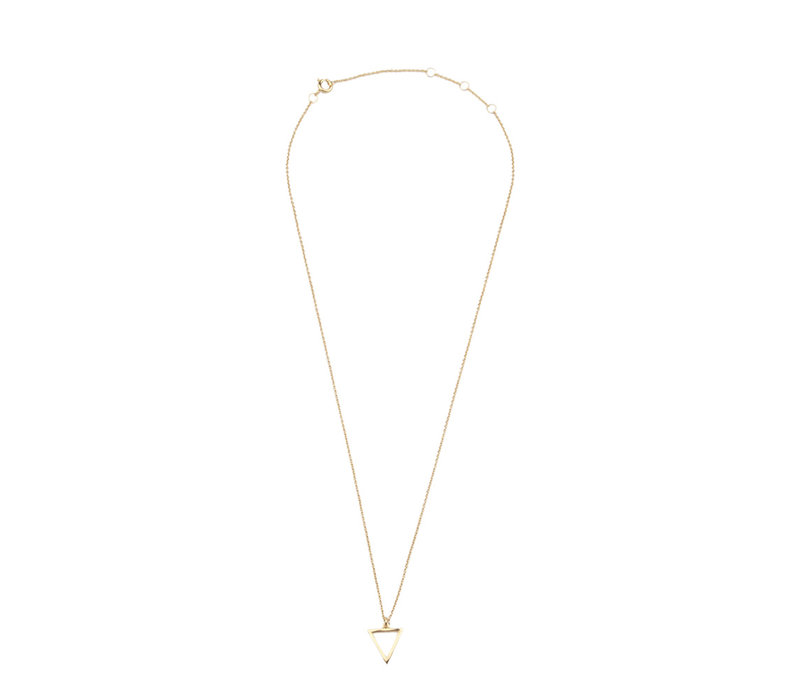 Souvenir Goldplated Necklace Open Triangle
