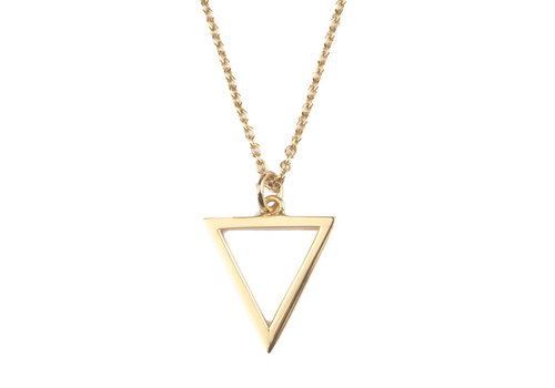 All the Luck in the World Necklace Open Triangle gold