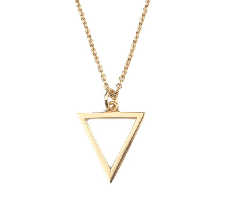 Necklace Open Triangle plated