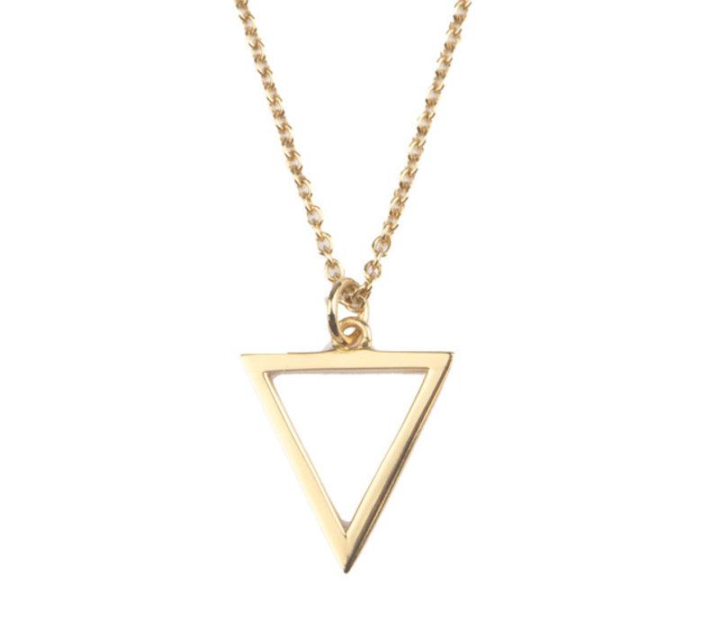 Souvenir Goldplated Ketting Open Driehoek