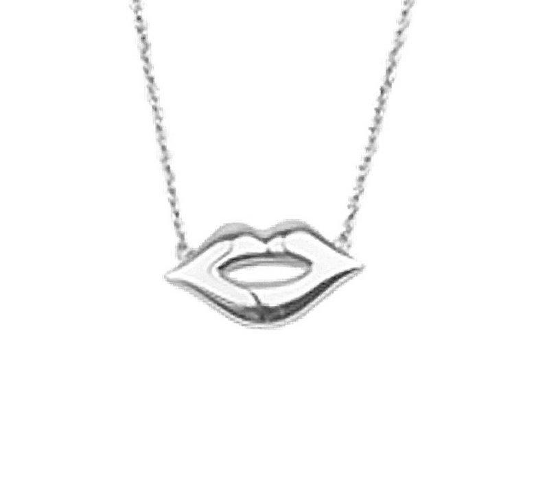Souvenir Silverplated Ketting Lippen