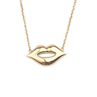 Souvenir Goldplated Ketting Lippen