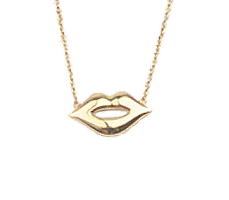 Ketting Lippen 18K goud