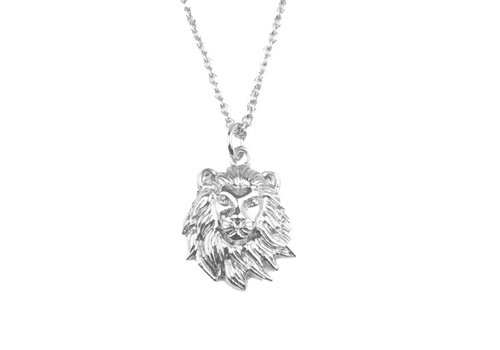 All the Luck in the World Souvenir Silverplated Ketting Leeuw