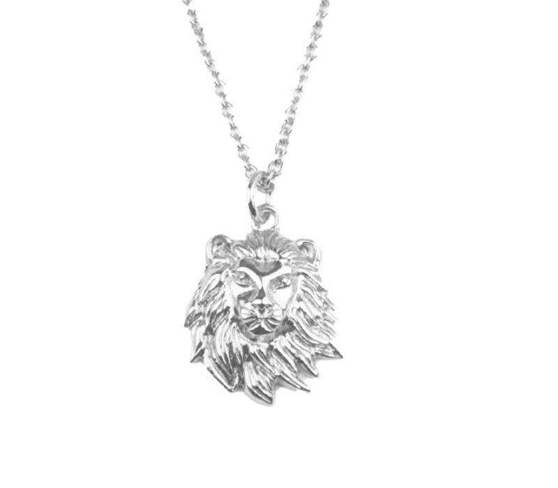 Souvenir Silverplated Necklace Lion