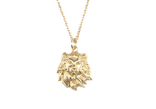 All the Luck in the World Necklace Lion gold