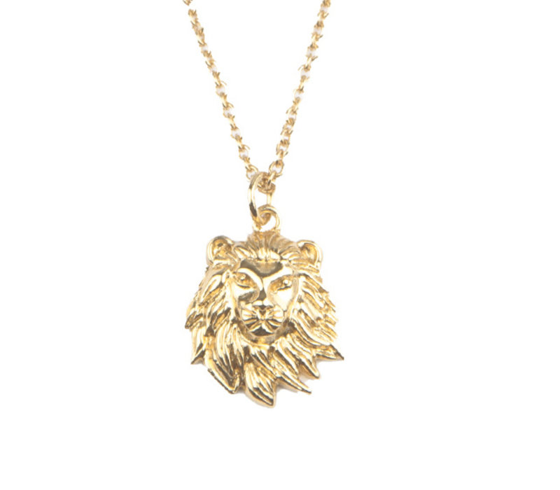 Necklace Lion plated
