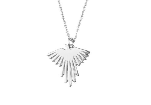 All the Luck in the World Souvenir Silverplated Necklace Eagle