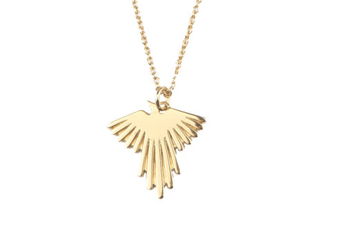 All the Luck in the World Necklace Eagle gold