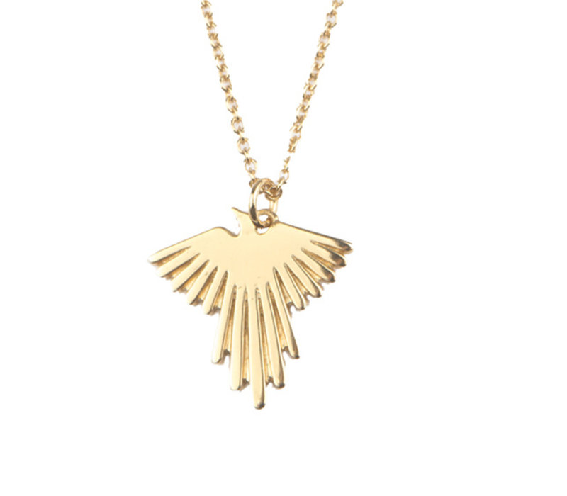 Necklace Eagle plated