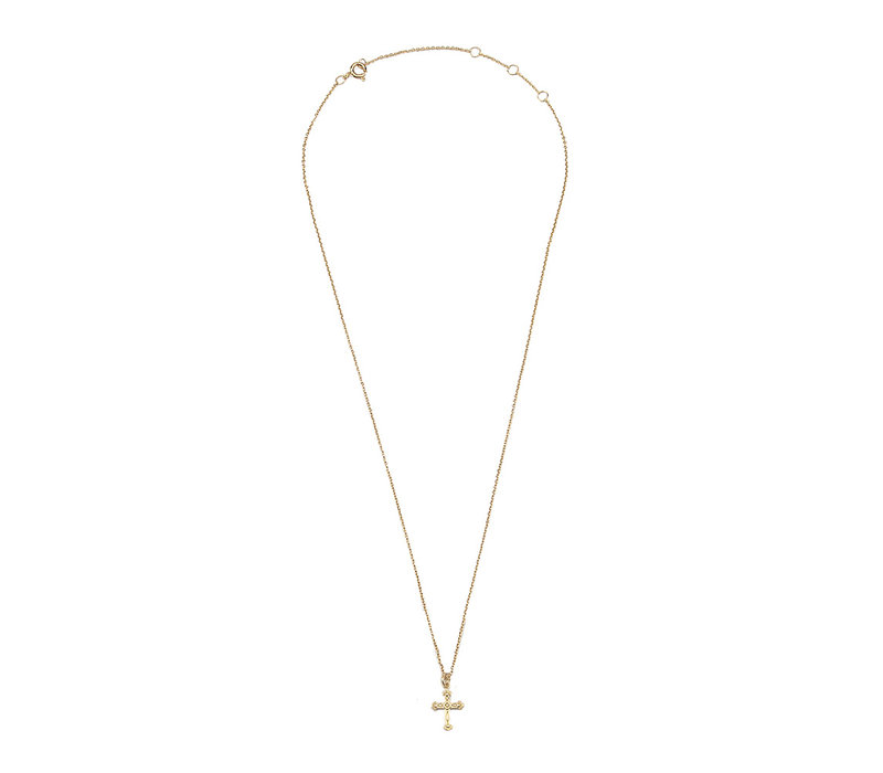 Necklace Cross plated