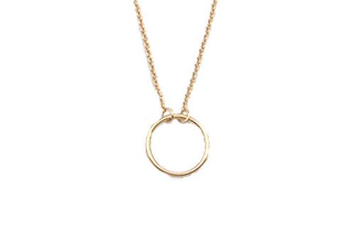 All the Luck in the World Necklace Circle gold