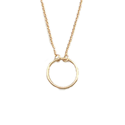 Souvenir Goldplated Ketting Cirkel