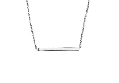 All the Luck in the World Necklace Bar silver