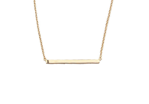 All the Luck in the World Necklace Bar gold