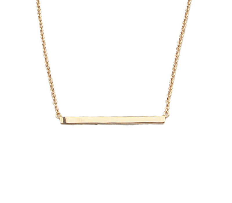 Souvenir Goldplated Ketting Staaf
