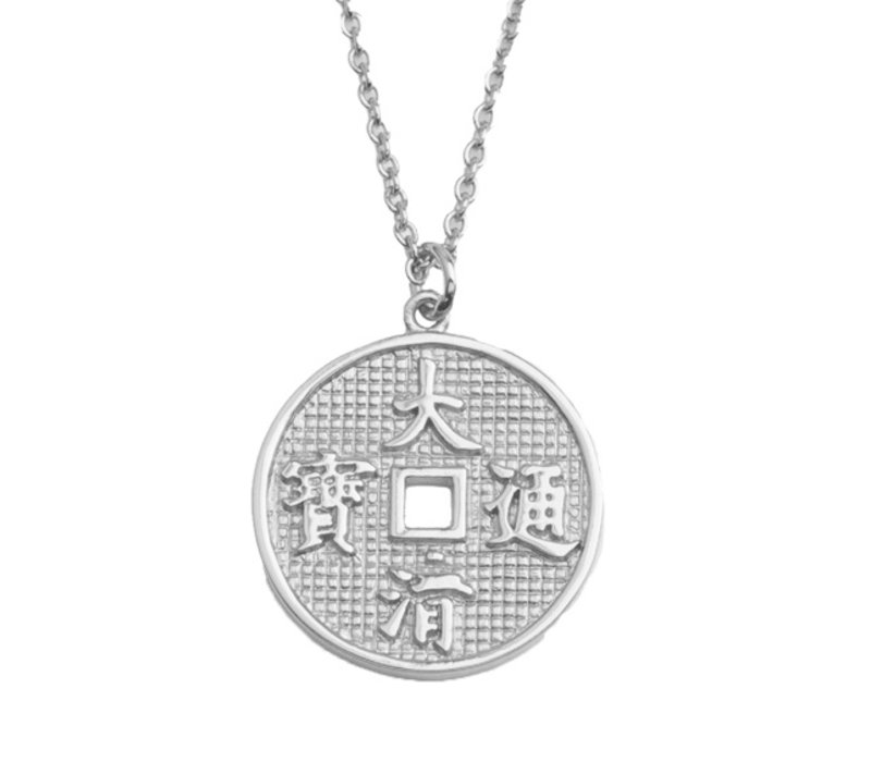 Necklace Lucky Coin plated