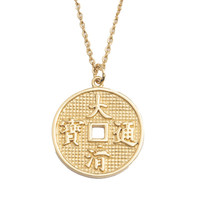Necklace Lucky Coin gold