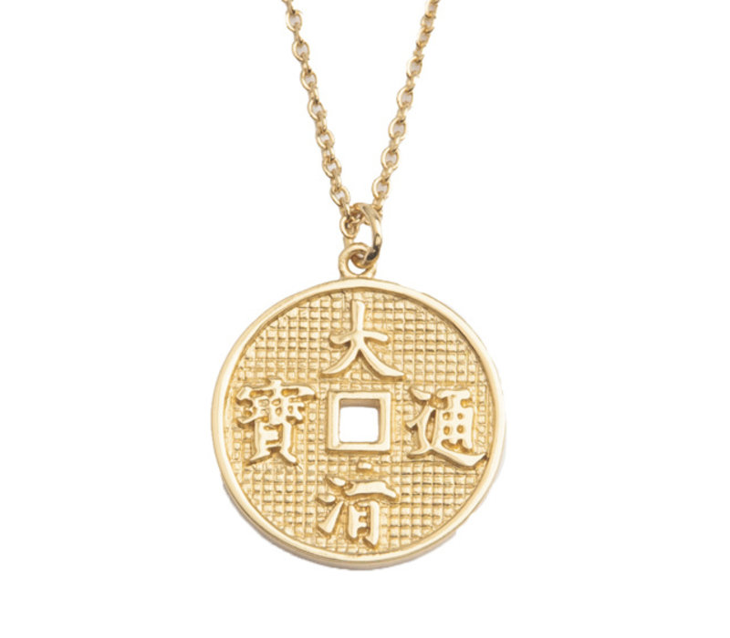 East Goldplated Necklace Lucky Coin