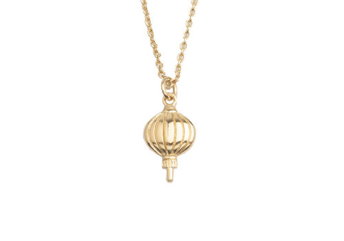 All the Luck in the World Necklace Lantern gold