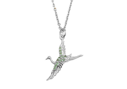 All the Luck in the World East Silverplated Necklace Crane