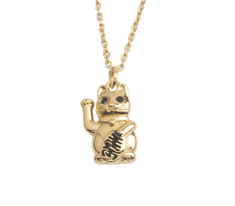 East Goldplated Necklace Lucky Cat
