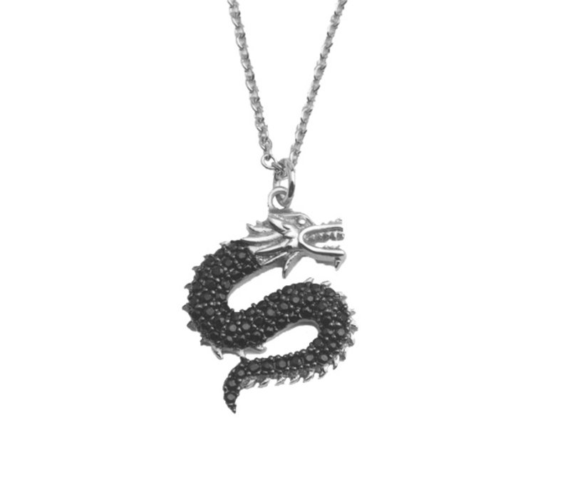 East Silverplated Necklace Big Dragon