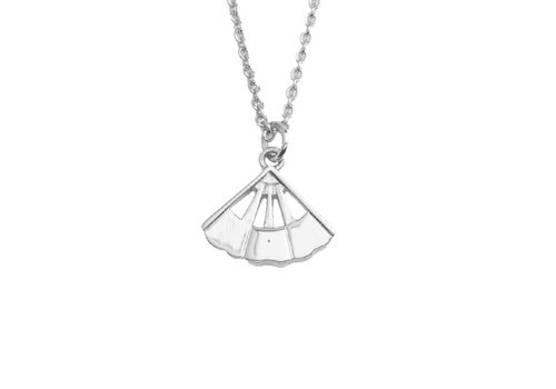 All the Luck in the World East Silverplated Necklace Fan