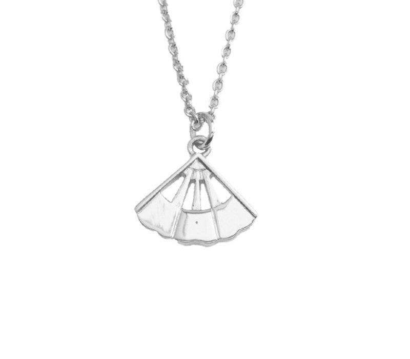 East Silverplated Necklace Fan