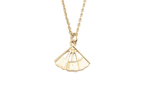 All the Luck in the World Necklace Fan gold