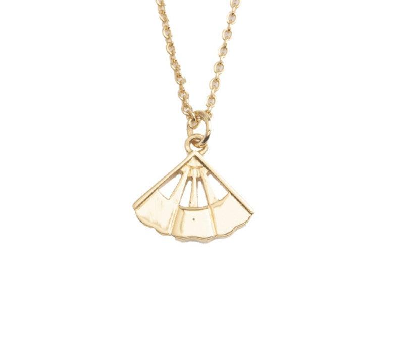 Necklace Fan gold