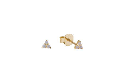 All the Luck in the World Earrings Triangle Dots white 18K gold