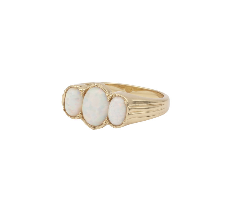 Ring Oval White 18K gold