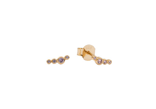 All the Luck in the World Earrings Four Dots lilac 18K gold
