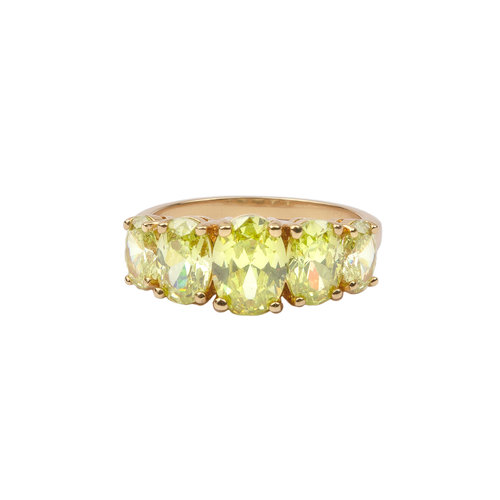 Chérie Goldplated Ring Ovalen Lime