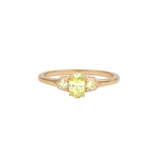 Ring Oval klein Lime 18K goud