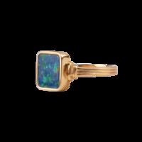 Ring Vierkant Blauw 18K goud