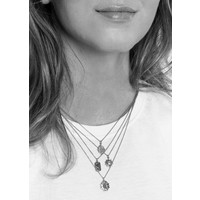 Charm Silverplated Necklace Sun Circle