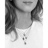 Charm Silverplated Necklace Snake Oval