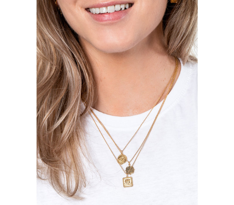 Charm Goldplated Necklace Scorpio Circle