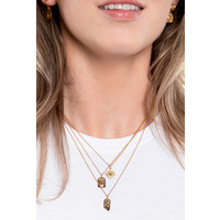 Charm Goldplated Necklace Rose Circle