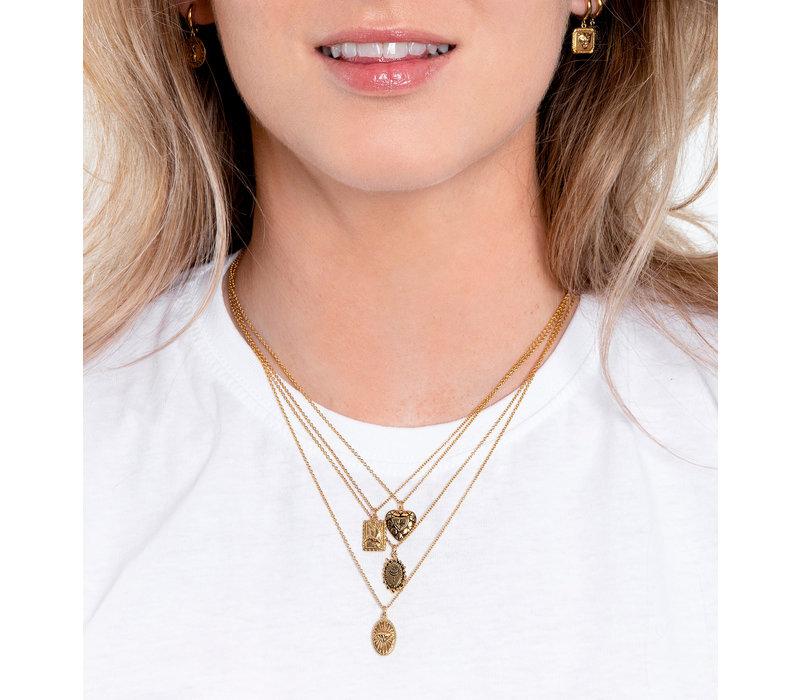 Necklace Diamond Oval 18K gold